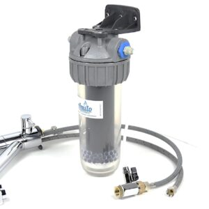 Filtre à eau sous-évier Amilo avec robinet 3 voies modèle court