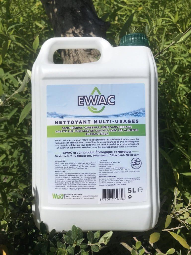 Ewac nettoyant puissant et 100% biodégradable
