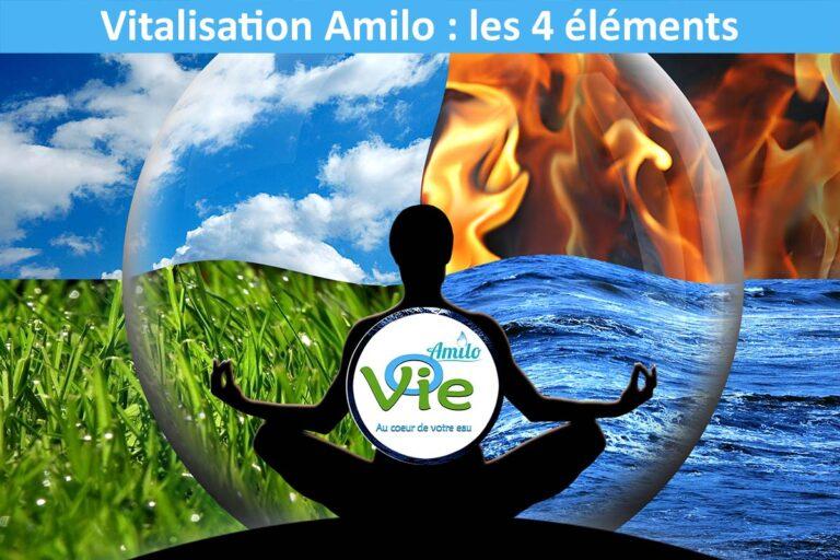 La vitalisation Amilo est basée sur les 4 éléments de la nature